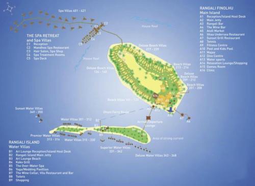 马尔代夫港丽岛地图详解