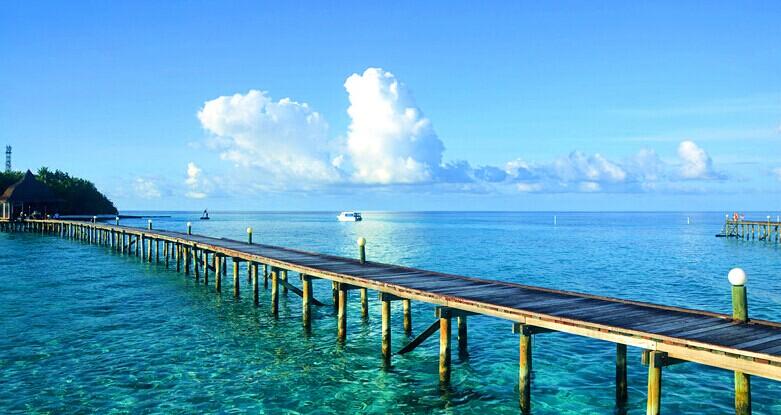 马尔代夫蓝色美人蕉岛图片欣赏