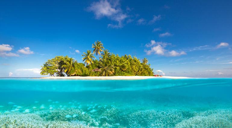岛屿面积不大,属于小型岛屿