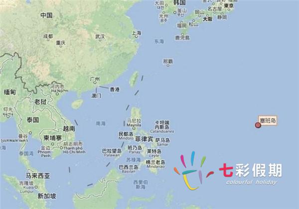 塞班岛的地理位置