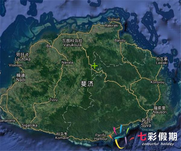 斐济地图高清版
