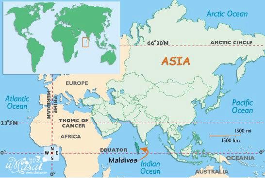 马尔代夫地图位置