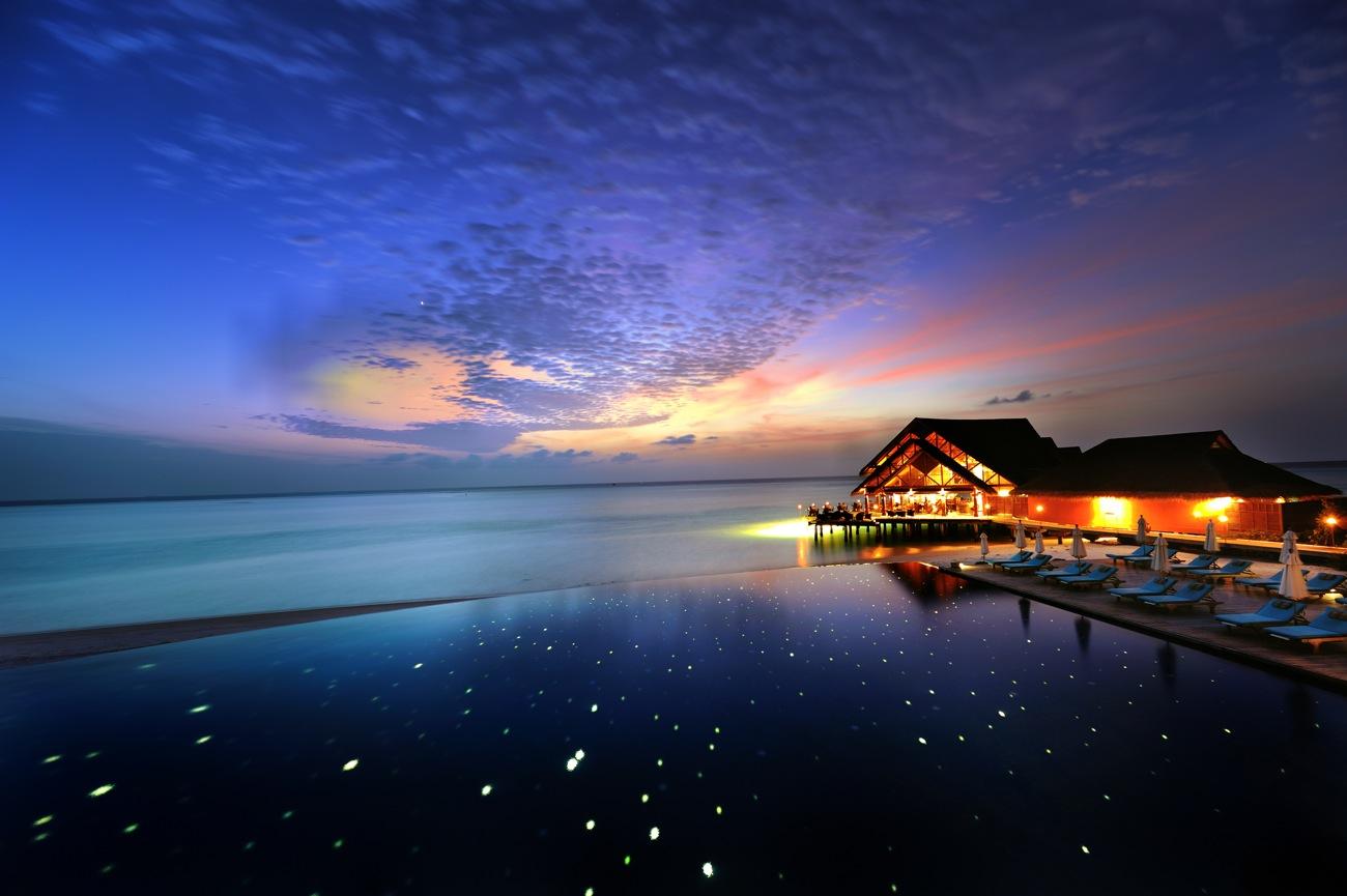 动态壁纸夜景大海